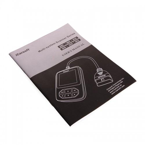 Портативный диагностический сканер iCarsoft i970 для автомобилей Peugeot, Citroen и OBD II