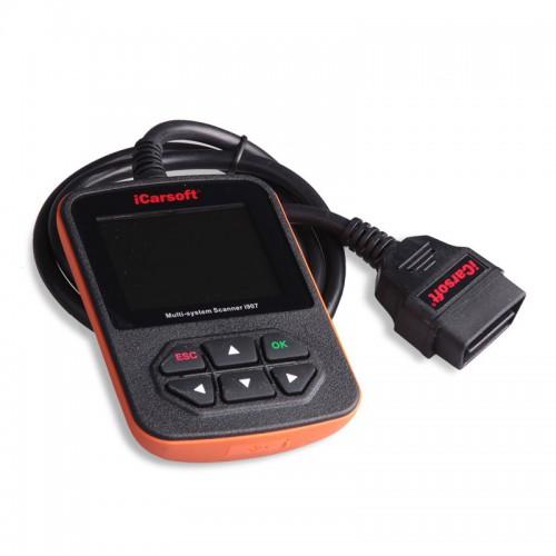 Портативный диагностический сканер iCarsoft i907 для автомобилей Renault, Dacia и OBD II