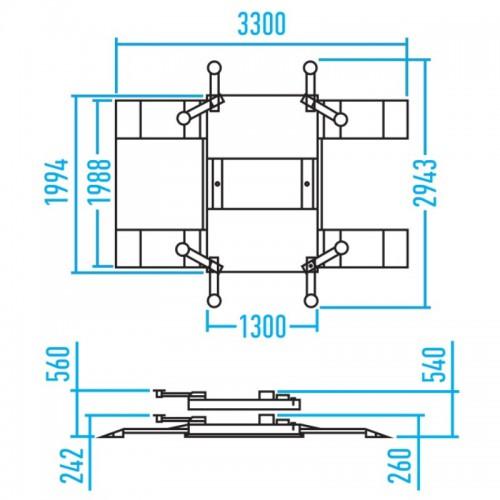 Ножничный подъемник Nordberg N630-2.5 пневматический