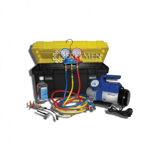 Портативное устройство для вакуумирования и заправки систем кондиционирования (Артикул: SMC-042-1 New)
