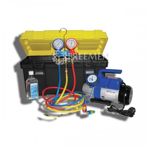 Портативное устройство для вакуумирования и заправки систем кондиционирования сельхозтехники и автобусов (Артикул: SMC-042-3 New)