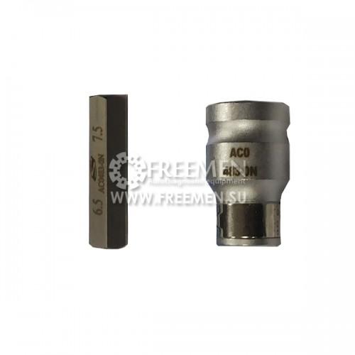 AC0483-0N Ключ для монтажадемонтажа гайки электронной части форсунок Bosch Common Rail (Hex 10 мм), SIRINI (ИТАЛИЯ)