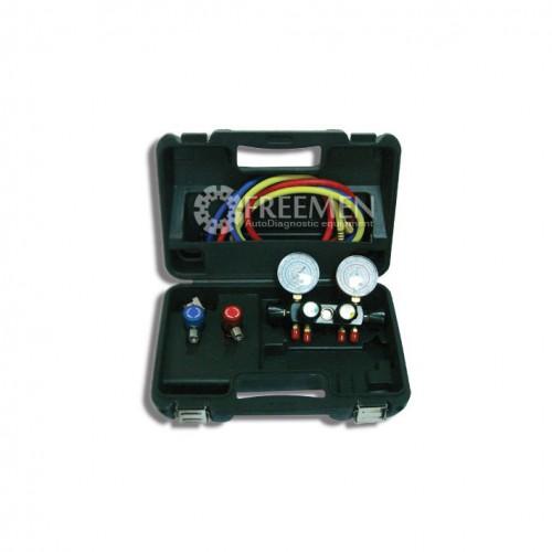 Манометрический коллектор 4-х вентильный для R-1234yf