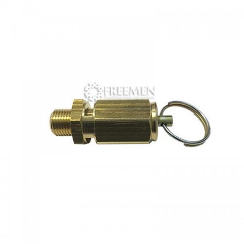 Предохранительный клапан для зарядных колб