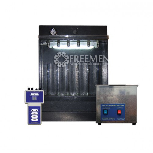 SMC-302E - Стенд для УЗ очистки и диагностики инжекторов, работающий от внешней пневмосети